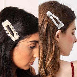 CLOSET REHAB Accessories - XL Pearl Hair Clip - set of 2
